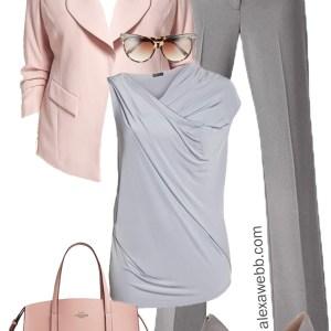 Plus Size Grey & Blush Work Outfit - Plus Size Work Wear - Plus Size Fashion for Women - alexawebb.com #alexawebb