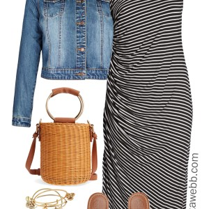 Plus Size Summer Striped Dress - Plus Size Summer Outfit Idea - Plus Size Fashion for Women - alexawebb.com #alexawebb #plussize