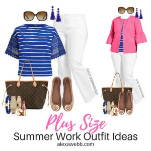 Plus Size White Pants Work Outfit - Plus Size Workwear - Plus Size Fashion for Women - alexawebb.com #alexawebb #plussize