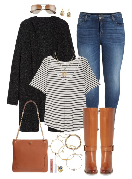 da90c62f2fe Plus Size Striped Tee Outfit - Plus Size Fashion for Women - Plus Size Fall  Outfit