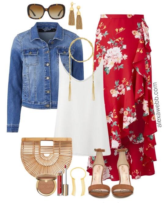 49607a876310a Plus Size Wrap Skirt Outfit - Plus Size Fashion for Women - alexawebb.com