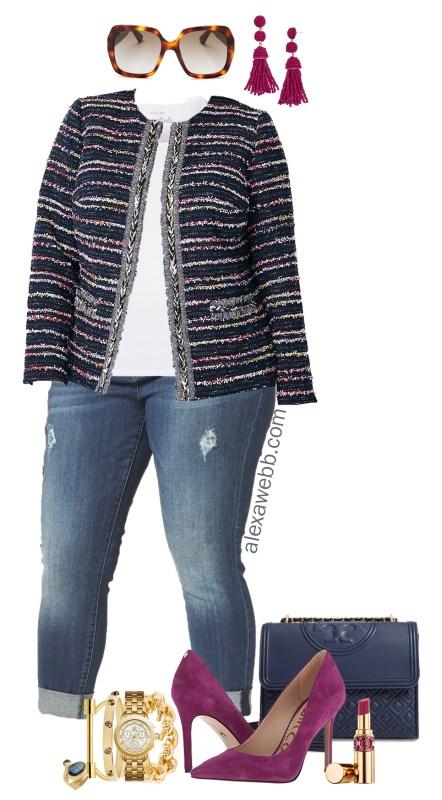 Plus Size Tweed Jacket Outfit - Plus Size Fall Outfit Idea - Plus Size Fashion for Women - alexawebb.com #plussize #alexawebb