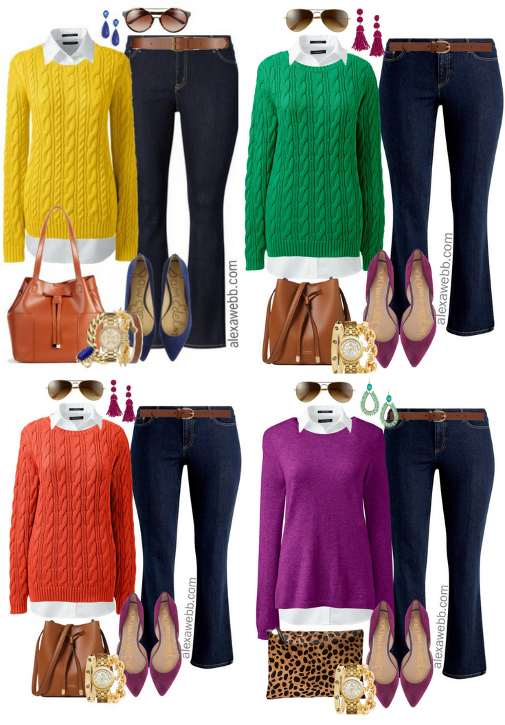Plus Size Bright Sweater Outfit Ideas