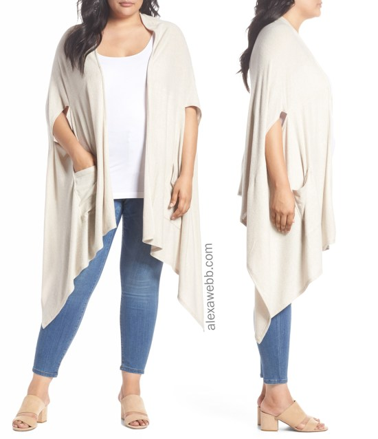 Plus Size Cape Cardigan Outfit - Plus Size Fashion for Women - alexawebb.com #alexawebb #plussize