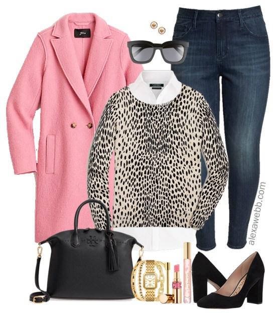 Plus Size Pink Coat Outfit - Plus Size Winter Outfit Ideas - Plus Size Fashion for Women - alexawebb.com #plussize #alexawebb