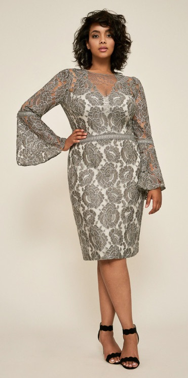 45 Plus Size Wedding Guest Dresses {with Sleeves} , Alexa Webb