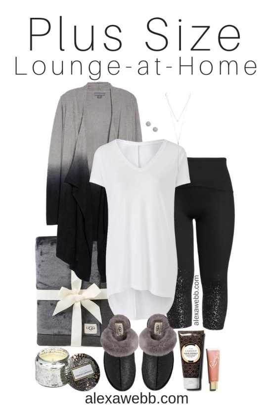 Plus Size Luxury Lounging Outfit - Plus Size Lounge at Home Outfit - Plus Size Fashion for Women - alexawebb.com #plussize #alexawebb