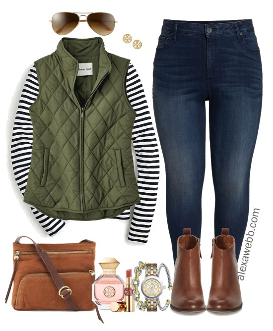 8ee1f6ed242 Plus Size Preppy Fall Outfit - Alexa Webb