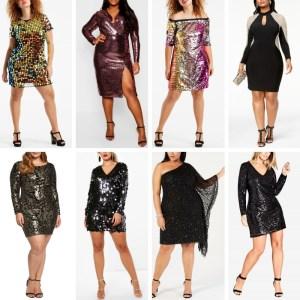 24 More Plus Size Sequin Dresses - Plus Size Holiday Party Dress - Plus Size Fashion for Women - alexawebb.com #plussize #alexawebb