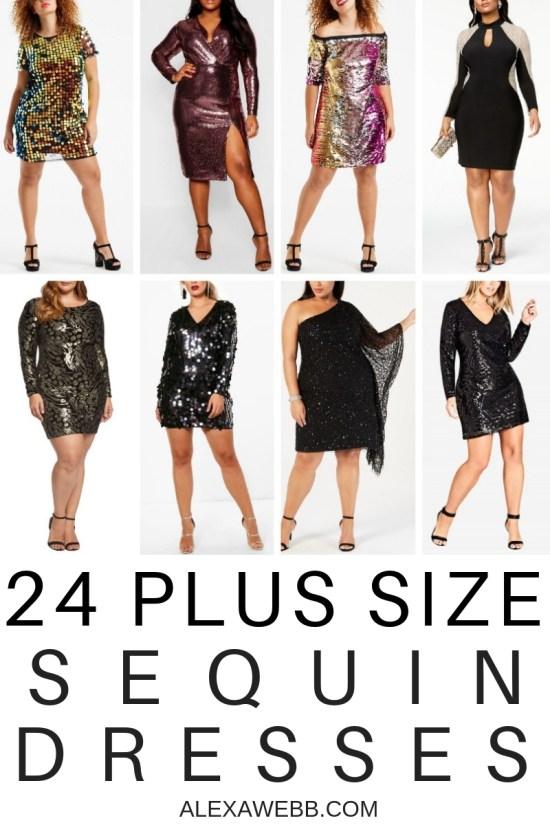 Plus Size Sequin Dresses - Plus Size Party Dresses - Plus Size Fashion for Women - alexawebb.com #plussize #alexawebb
