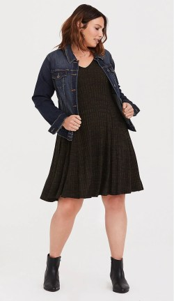 Plus Size Swing Sweater Dress - Alexa Webb