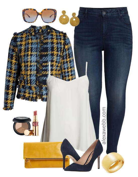 Plus Size Work to Happy Hour Outfits - Plus Size Tweed Jacket Outfit Ideas - Plus Size Casual Outfits - Plus Size Fashion for Women - alexawebb.com #plussize #alexawebb