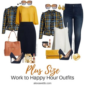 Plus Size Work to Happy Hour Outfits - Plus Size Tweed Jacket Outfit Ideas - Plus Size Work Outfits - Plus Size Fashion for Women - alexawebb.com #plussize #alexawebb