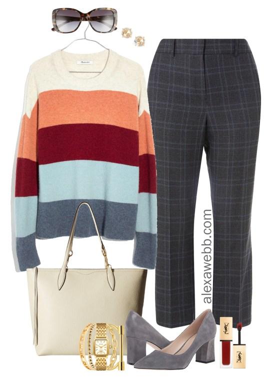 Plus Size Winter Work Outfit - Plus Size Plaid Pants Outfit Idea - Plus Size Fashion for Women - alexawebb.com #plussize #alexawebb