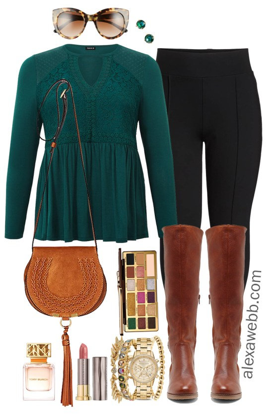 plus size casual christmas day outfit ideas plus size leggings and boots plus size
