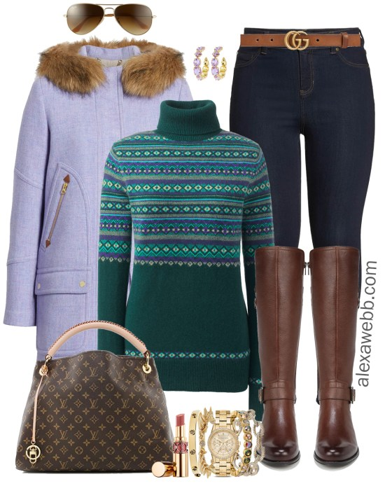 Plus Size Casual Christmas Day Outfit Ideas - Plus Size Leggings and Boots - Plus Size Fashion for Women - alexawebb.com #plussize #alexawebb