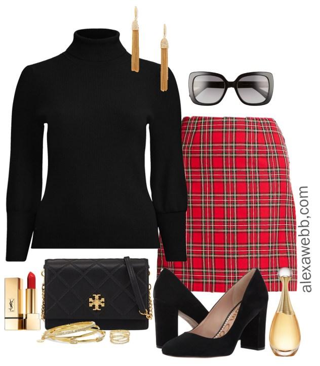 Plus Size Plaid Christmas Outfits - Plus Size Fashion for Women -  alexawebb.com - Plus-size-plaid-christmas-outfit-alexawebb-1118-1 - Alexa Webb