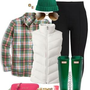 Plus Size Plaid Flannel Shirt Outfit - Plus Size Winter Outfit Idea - Wide Calf Hunter Boots - Plus Size Fashion for Women - alexawebb,com #plussize #alexawebb