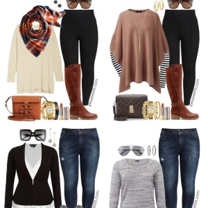 Plus Size Thanksgiving Outfits – Peplum Blazer and Boyfriend Jeans - Plus Size Fashion for Women - alexawebb.com #plussize #alexawebb