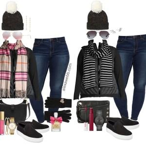 Plus Size Black Vest Outfit Ideas - Plus Size Casual Winter Outfits - Plus Size Fashion for Women - alexawebb.com #plussize #alexawebb