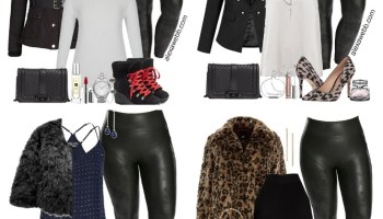 01826052eb118 Plus Size Faux Leather Leggings Outfit Ideas - Part 1 - Alexa Webb