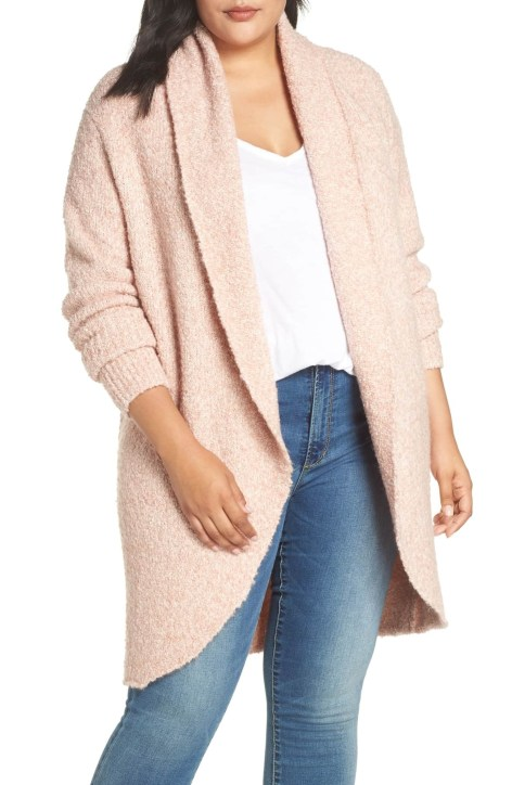 9d19efc6a9e2b Plus Size Blush Pink Cardigan - Plus Size Fashion for Women - alexawebb.com  #