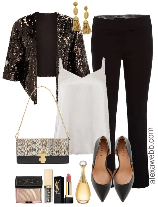 Plus Size Holiday Party Outfits - The Work Party - Plus Size Fashion for Women - alexawebb.com #plussize #alexawebb