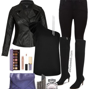 Plus Size Winter Night Out Outfit - Plus Size Clubwear - Plus Size Fashion for Women - alexawebb.com #plussize #alexawebb