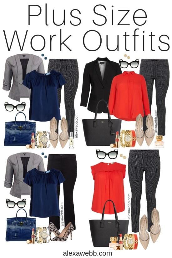 Plus Size Work Outfits - Plus Size Workwear - Plus Size Fashion for Women - Alexa Webb - alexawebb.com #Plussize #Alexawebb