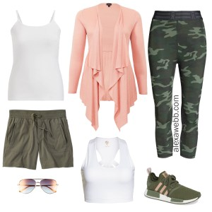 Plus Size Cruise Collection - Activewear - Plus Size Camo Leggings - alexawebb.com #alexawebb #plussize