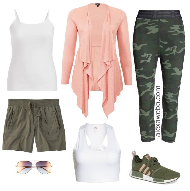 Plus Size Cruise Collection - Activewear - Plus Size Camo Leggings - alexawebb.com #alexawebb #plussize