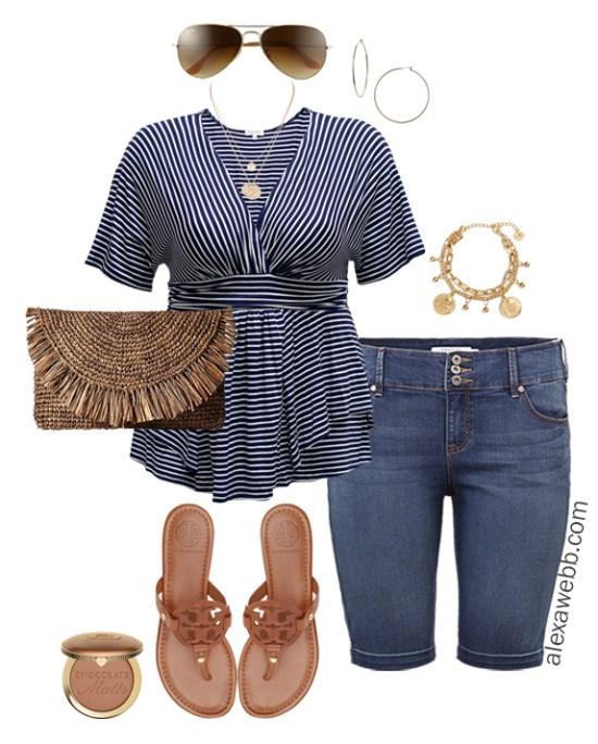 Plus Size Cruise Outfits- Casual Vacation Wear- Plus Size Fashion - Alexa Webb - alexawebb.com #plussize #alexawebb