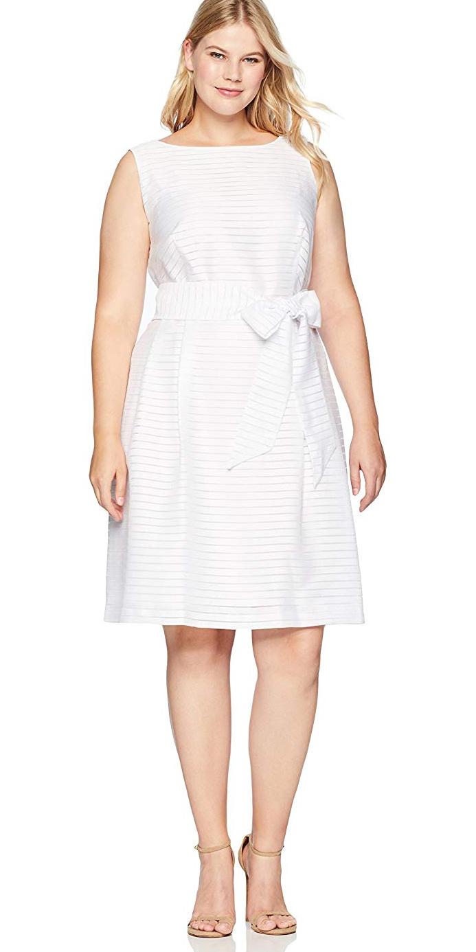 Dinner Dress White Plus Size