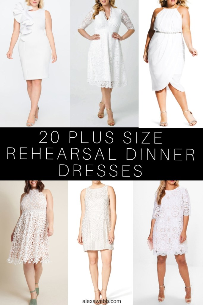 20 Plus Size Rehearsal Dinner Dresses - Alexa Webb