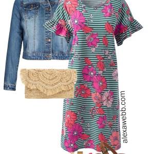 Plus Size Spring Floral Dress Outfit - Plus Size Fashion for Women - alexawebb.com #plussize #alexawebb