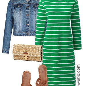 Plus Size Spring Green Dress Outfit - Plus Size Casual Spring Summer Outfit Idea - Plus Size Fashion for Women - alexawebb.com #plussize #alexawebb