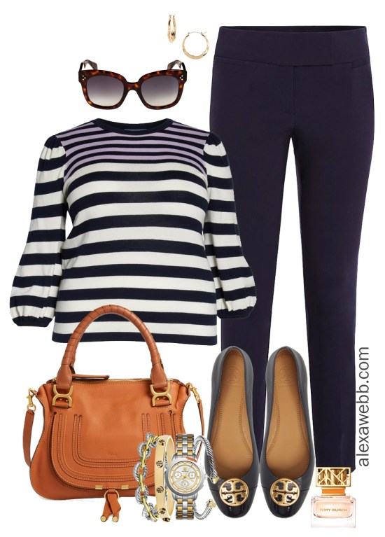 Plus Size Sweater Work Outfit - Plus Size Work Wear - alexawebb.com #plussize #alexawebb