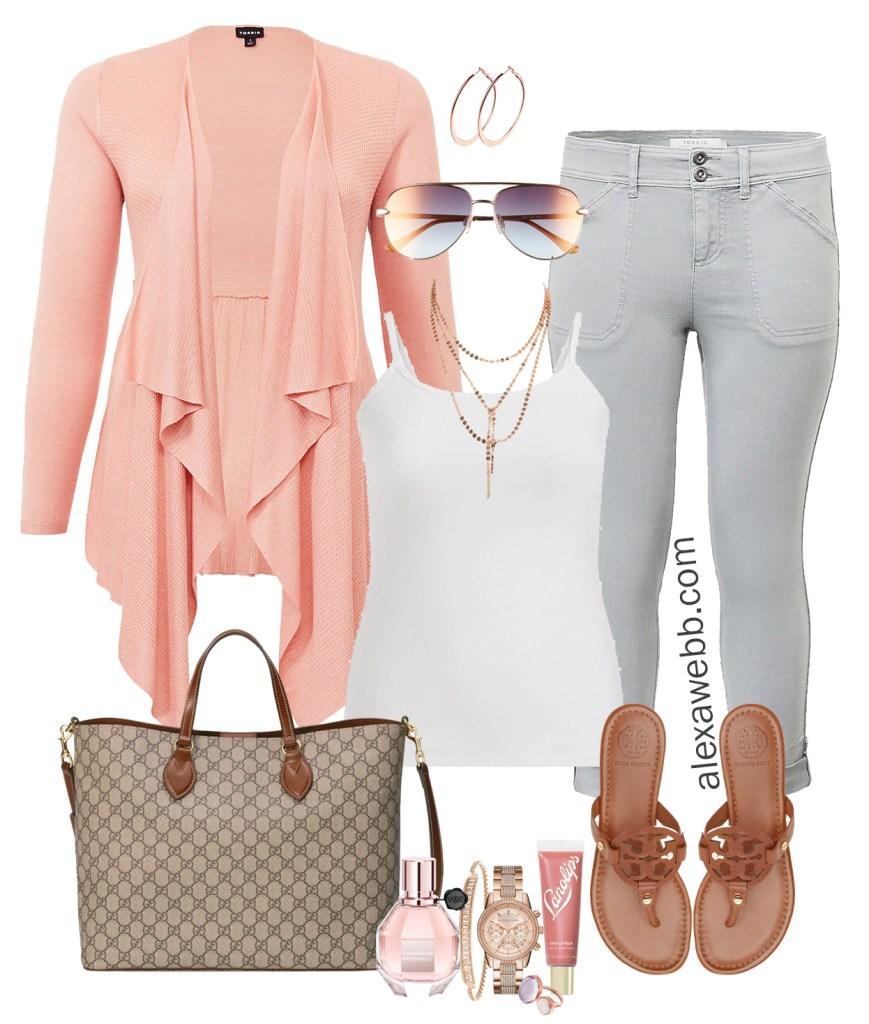 Plus Size Cruise Outfits - Travel Day - What to wear on a plane - Plus Size Fashion for Women - Alexa Webb - alexawebb.com #plussize #alexawebb