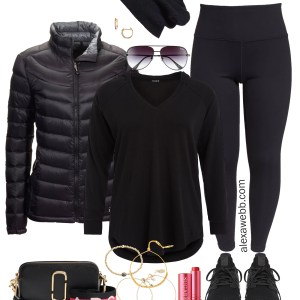 Plus Size Winter Athleisure Outfit - Plus Size Casual Outfit - Plus Size Fashion for Women - Alexa Webb - alexawebb.com #plusssize #alexawebb