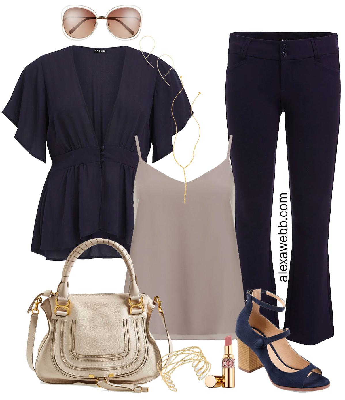 8a6a81e3b40 Plus Size Navy Blue Work Outfits - Alexa Webb