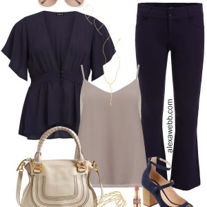 43fe04c554b Plus Size Navy Blue Work Outfits - Plus Size Workwear - Plus Size Fashion  for Women