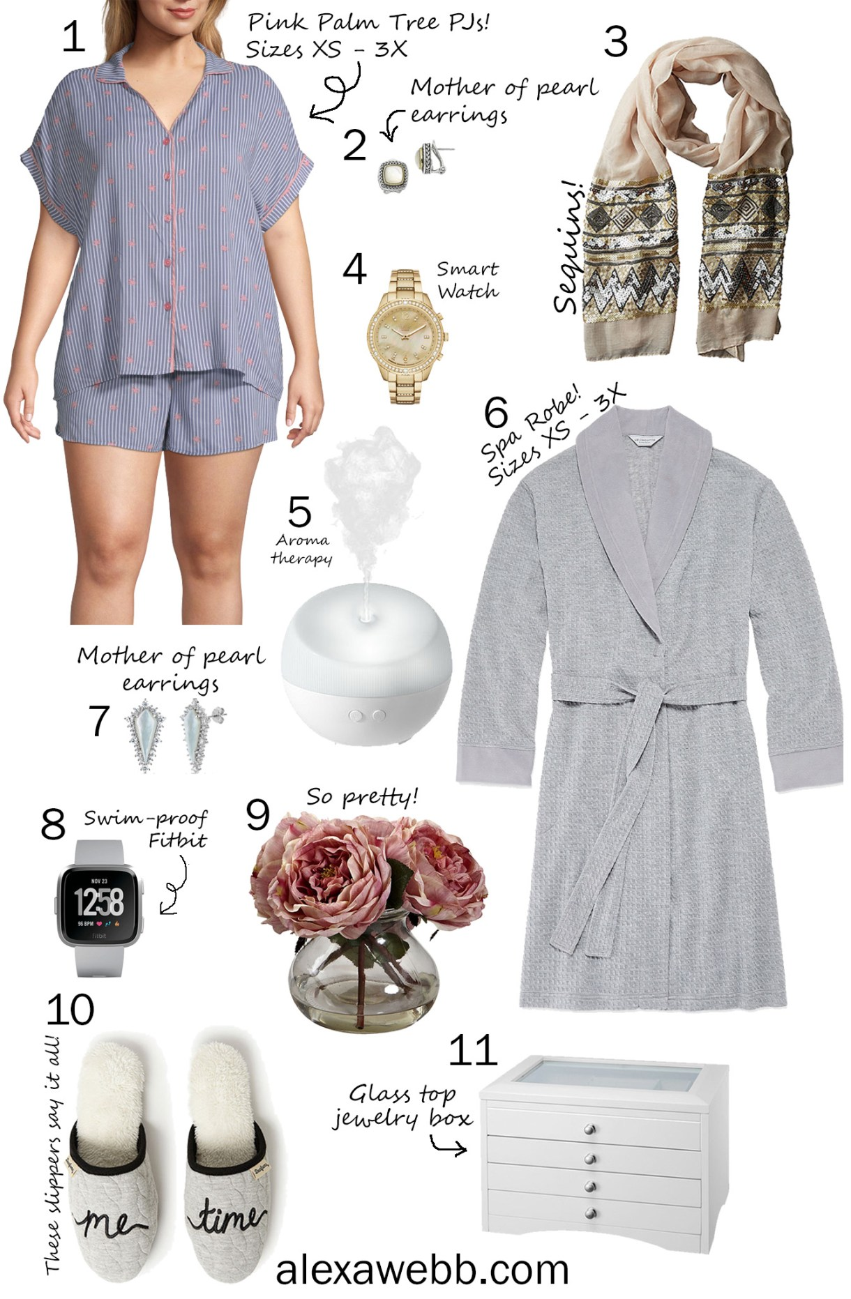 Mother's Day Gift Guide - Sleepwear in Sizes XS - 3X - Gift Ideas for Moms - alexawebb.com #alexawebb