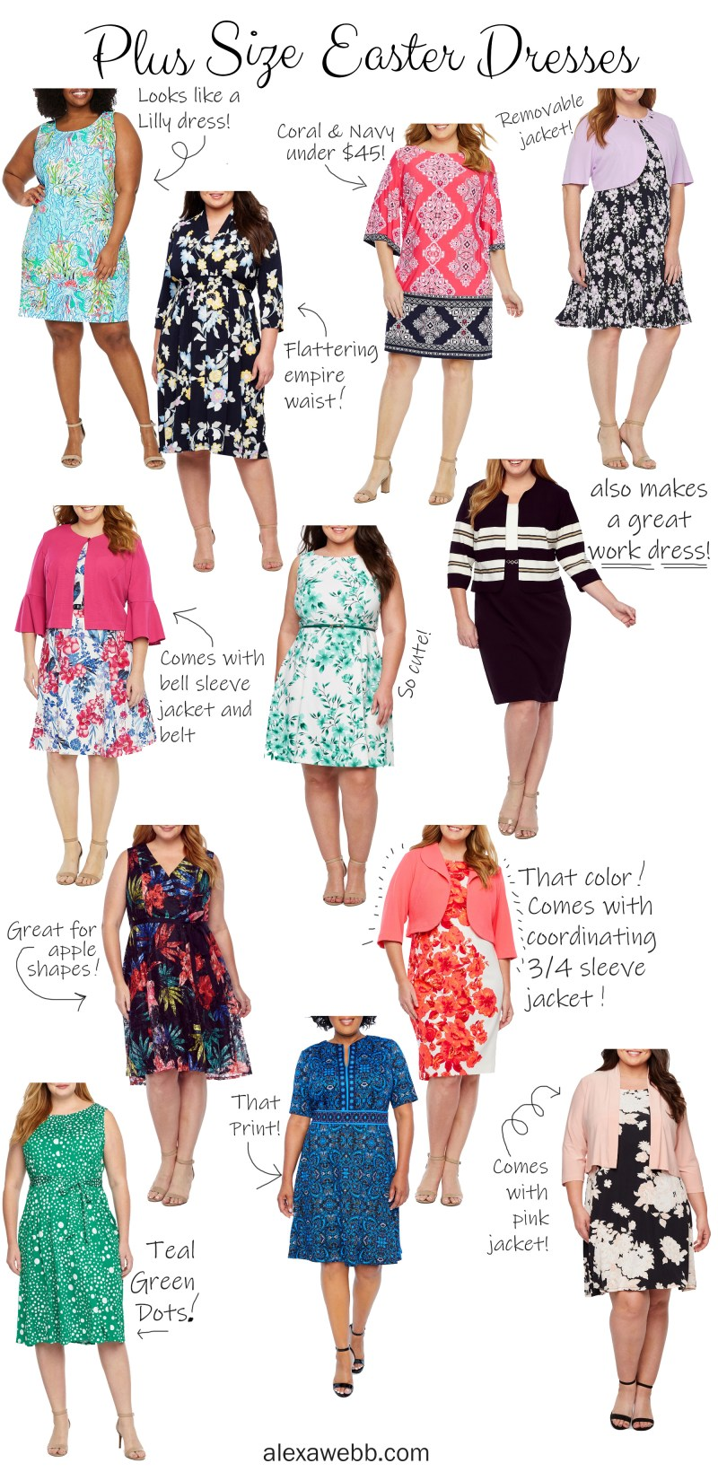 12 Plus Size Easter Dresses - Alexa Webb