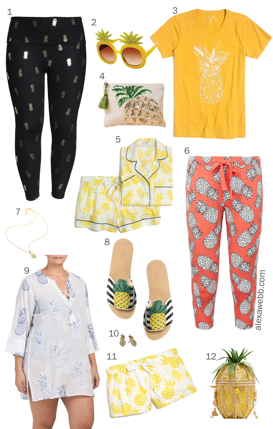Plus Size Pineapple Trend - Pineapple Leggings and Pajamas - alexawebb.com #plussize #alexawebb