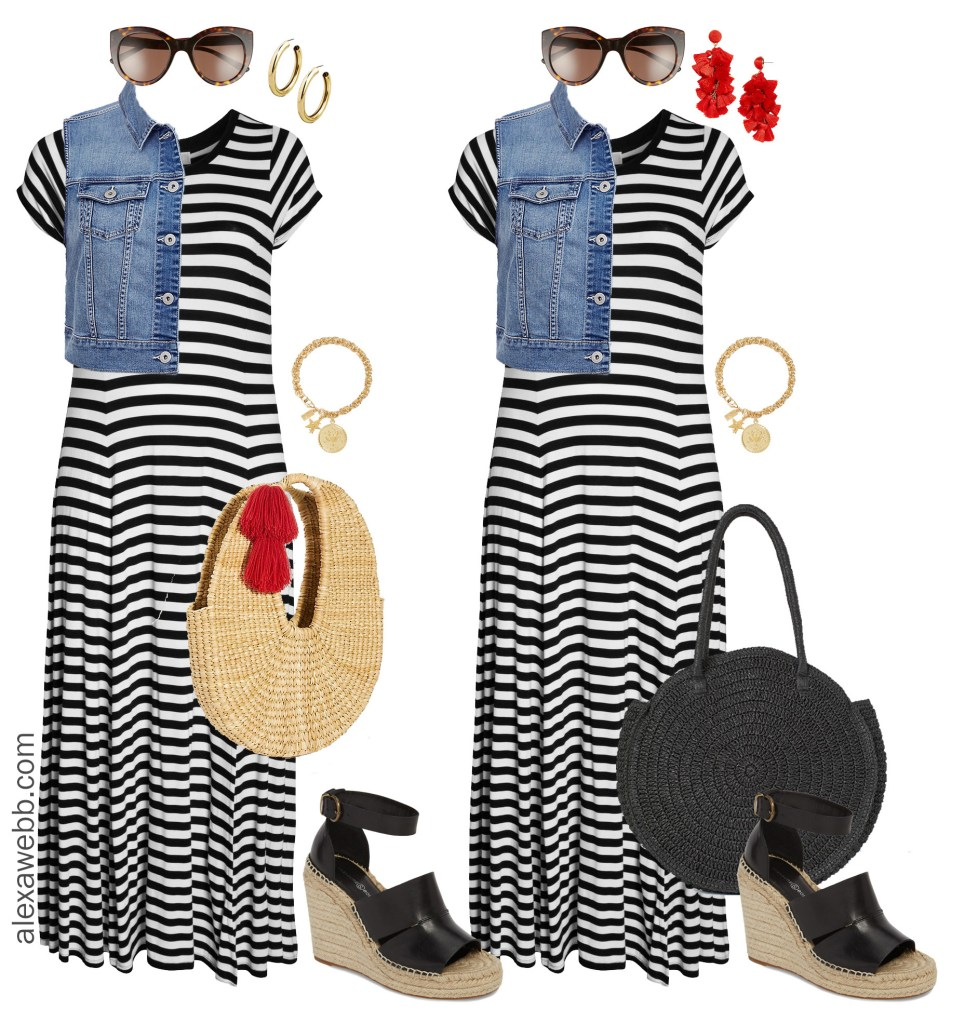 Plus Size Striped Maxi Dress Alexa Webb