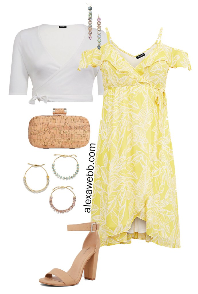 Plus Size Summer Wedding Guest Dress - Plus Size Weekend Wedding Packing List - Plus Size Wedding Guest Capsule Wardrobe - alexawebb.com Alexa Webb #plussize #alexawebb