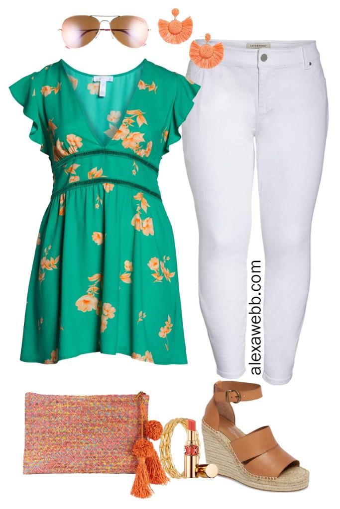Plus Size Dress as a Tunic Summer Outfit Idea - Plus Size Fashion for Women - Alexa Webb - alexawebb.com #plussize #alexawebb