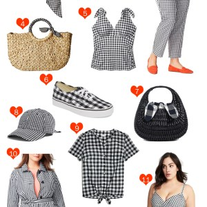 Plus Size Gingham Clothes and Wide Width Shoes - Plus Size Summer Fashion for Women - alexawebb.com #plussize #alexawebb