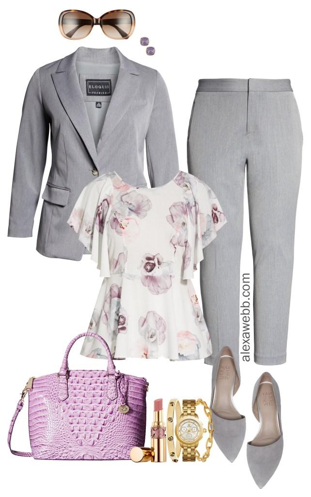 Plus Size Summer Professional Outfit - Plus Size Work Wear - Plus Size Interview Outfit Idea - alexawebb.com #plussize #alexawebb