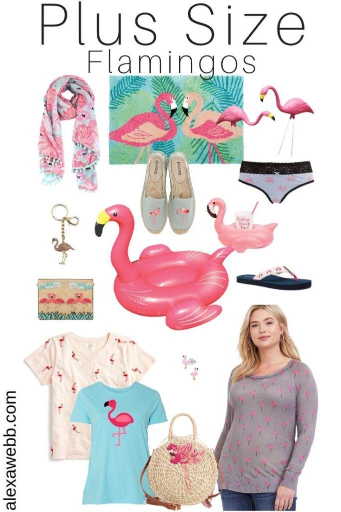 Plus Size Flamingos - alexawebb.com #plussize #alexawebb